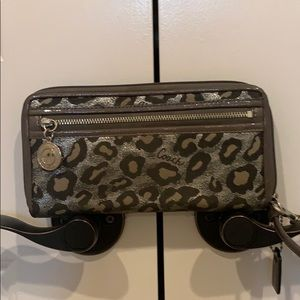 COACH Silver Cheetah Wallet